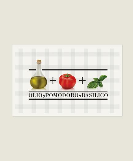 Olio, pomodoro, basilico
